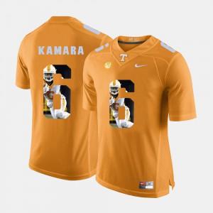 Men Vols #6 Alvin Kamara Orange Pictorial Fashion Jersey 887338-331