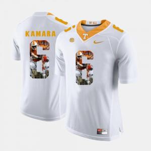 Men VOL #6 Alvin Kamara White Pictorial Fashion Jersey 642207-465