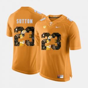 Men UT Volunteer #23 Cameron Sutton Orange Pictorial Fashion Jersey 398406-209
