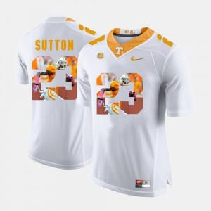For Men UT Volunteer #23 Cameron Sutton White Pictorial Fashion Jersey 976086-312