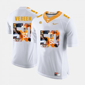 Men's University Of Tennessee #50 Corey Vereen White Pictorial Fashion Jersey 383197-833