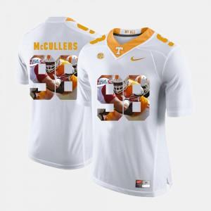 Men UT Volunteer #98 Daniel McCullers White Pictorial Fashion Jersey 463365-337