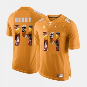 Men UT VOLS #14 Eric Berry Orange Pictorial Fashion Jersey 220892-565