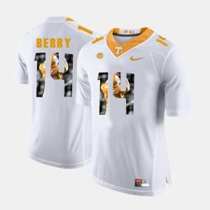 Men's UT #14 Eric Berry White Pictorial Fashion Jersey 440240-895