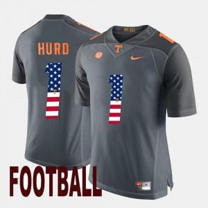 Men Tennessee #1 Jalen Hurd Gray US Flag Fashion Jersey 986544-998