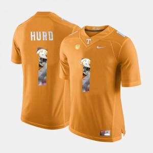 Men's University Of Tennessee #1 Jalen Hurd Orange Pictorial Fashion Jersey 723841-711