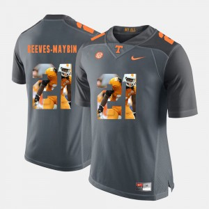 For Men's Vols #21 Jalen Reeves-Maybin Grey Pictorial Fashion Jersey 486622-222
