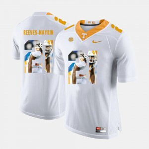 Mens TN VOLS #21 Jalen Reeves-Maybin White Pictorial Fashion Jersey 257408-503