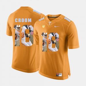 For Men's UT VOLS #18 Jason Croom Orange Pictorial Fashion Jersey 137828-298
