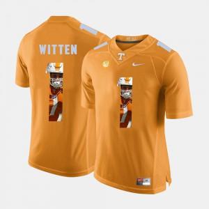 Mens Tennessee #1 Jason Witten Orange Pictorial Fashion Jersey 980199-671