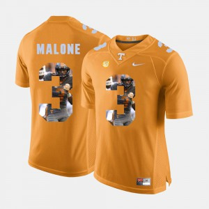 For Men UT Volunteer #3 Josh Malone Orange Pictorial Fashion Jersey 596476-784
