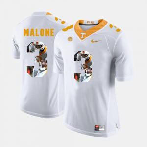Mens TN VOLS #3 Josh Malone White Pictorial Fashion Jersey 593128-657