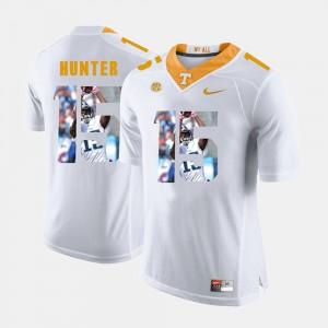 For Men Vols #15 Justin Hunter White Pictorial Fashion Jersey 642037-872