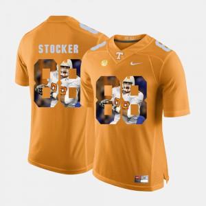 Men TN VOLS #88 Luke Stocker Orange Pictorial Fashion Jersey 111407-765