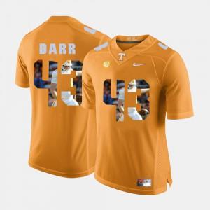 For Men Tennessee #43 Matt Darr Orange Pictorial Fashion Jersey 930496-385