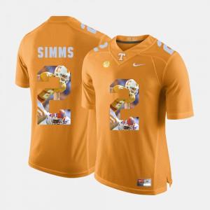 For Men's UT VOL #2 Matt Simms Orange Pictorial Fashion Jersey 439714-817