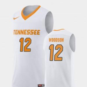 For Men's VOL #12 Brad Woodson White Replica College Basketball Jersey 564951-764