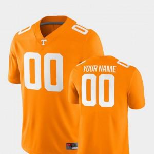 For Men's Tennessee Volunteers #00 Tennessee Orange College Football 2018 Game Custom Jersey 479624-695