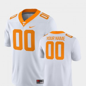 For Men's Tennessee #00 White College Football 2018 Game Customized Jersey 272076-968