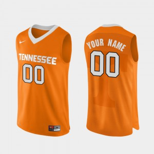 Men University Of Tennessee #00 Orange Authentic Performace College Basketball Custom Jerseys 447101-392