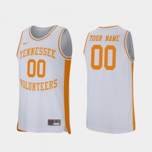 For Men's Tennessee Volunteers #00 White Retro Performance College Basketball Customized Jersey 483609-309