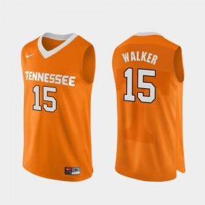 Men UT #15 Derrick Walker Orange Authentic Performace College Basketball Jersey 912375-927