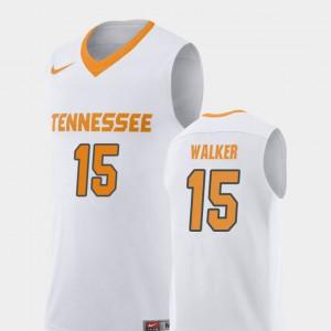 Men's Tennessee #15 Derrick Walker White Replica College Basketball Jersey 255286-877