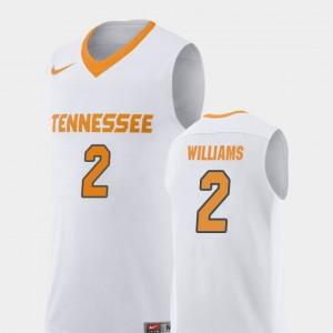 Men Tennessee #2 Grant Williams White Replica College Basketball Jersey 675292-766