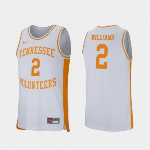 Mens TN VOLS #2 Grant Williams White Retro Performance College Basketball Jersey 911932-281