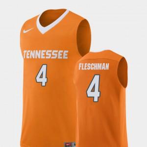 Men University Of Tennessee #4 Jacob Fleschman Orange Replica College Basketball Jersey 666672-136