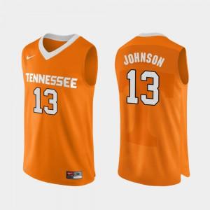 Men UT #13 Jalen Johnson Orange Authentic Performace College Basketball Jersey 608959-304