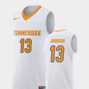 For Men's Tennessee Volunteers #13 Jalen Johnson White Replica College Basketball Jersey 170738-343