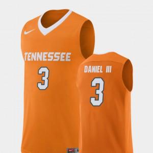 Men University Of Tennessee #3 James Daniel III Orange Replica College Basketball Jersey 260001-869