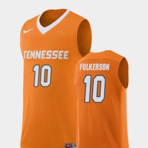 For Men University Of Tennessee #10 John Fulkerson Orange Replica College Basketball Jersey 168617-520