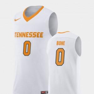 Men University Of Tennessee #0 Jordan Bone White Replica College Basketball Jersey 919381-928