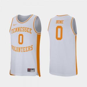 Men's TN VOLS #0 Jordan Bone White Retro Performance College Basketball Jersey 168573-667
