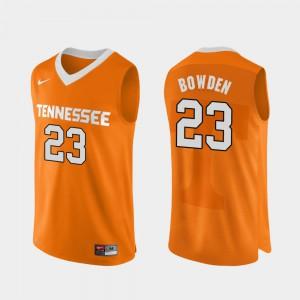 Men's VOL #23 Jordan Bowden Orange Authentic Performace College Basketball Jersey 156932-888