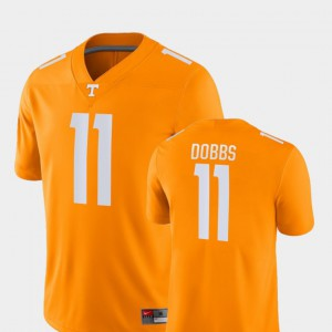 For Men Vols #11 Joshua Dobbs Orange Game College Football Jersey 807961-277