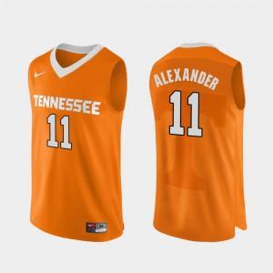 For Men UT Volunteer #11 Kyle Alexander Orange Authentic Performace College Basketball Jersey 946699-577