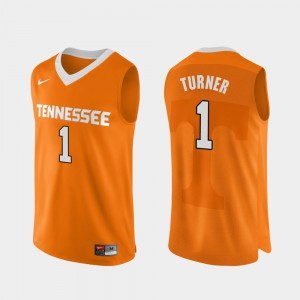 Men Tennessee #1 Lamonte Turner Orange Authentic Performace College Basketball Jersey 607755-471