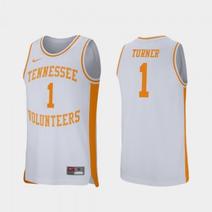 Men's Tennessee #1 Lamonte Turner White Retro Performance College Basketball Jersey 263018-309