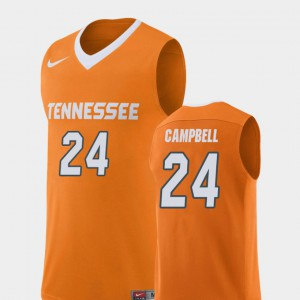 For Men's UT Volunteer #24 Lucas Campbell Orange Replica College Basketball Jersey 673470-494