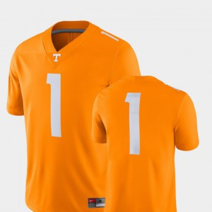 For Men's Tennessee #1 Tenn Orange College Football 2018 Game Jersey 539647-314