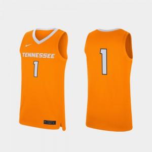Mens UT VOLS #1 Tennessee Orange Replica College Basketball Jersey 619760-588