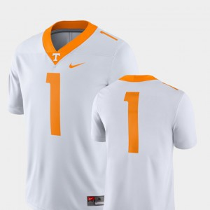 For Men's VOL #1 White College Football 2018 Game Jersey 307125-152
