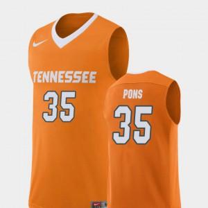 For Men VOL #35 Yves Pons Orange Replica College Basketball Jersey 606312-972