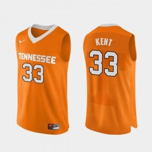 Men VOL #33 Zach Kent Orange Authentic Performace College Basketball Jersey 595890-668