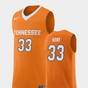 Men's UT Volunteer #33 Zach Kent Orange Replica College Basketball Jersey 442579-209