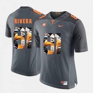Men's Tennessee Volunteers #81 Mychal Rivera Grey Pictorial Fashion Jersey 663530-276