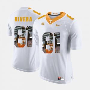 For Men's TN VOLS #81 Mychal Rivera White Pictorial Fashion Jersey 958075-496